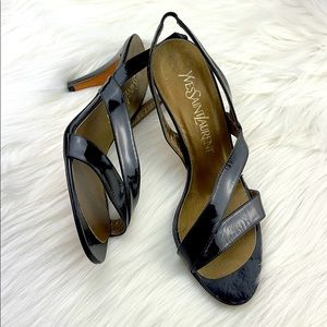 Yves Saint Laurent Black Heel Sandal size 6
